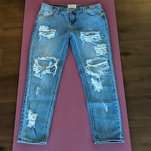 Ripped up one teaspoon jeans